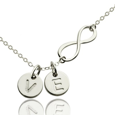 Custom Infinity Initial Necklace,Sister Necklace,Friend Necklace - Crafted By Birthstone Design™