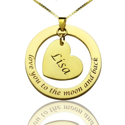 Custom Mom I Love You to the Moon and Back Necklace - Crafted By Birthstone Design™