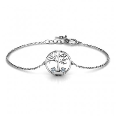 Personalised 1 - 4 Stone Family Tree Bracelet  - Crafted By Birthstone Design™