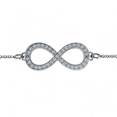 Personalised Accented Infinity Bracelet - Crafted By Birthstone Design™