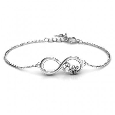Personalised BFF Friendship Infinity Bracelet - Crafted By Birthstone Design™