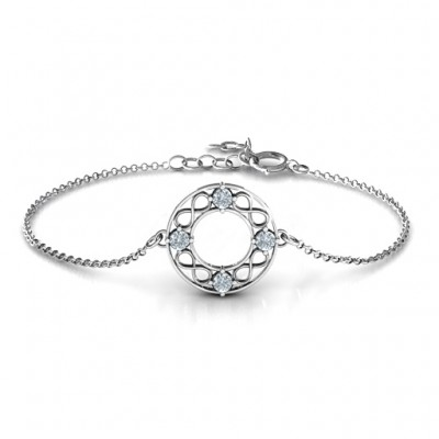 Personalised Circular Infinity Bracelet - Crafted By Birthstone Design™