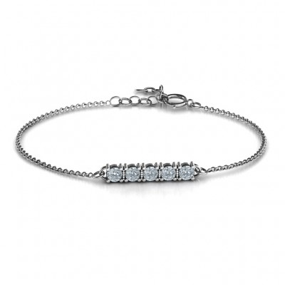 Personalised Classic 5 Birthstone Bracelet  - Crafted By Birthstone Design™