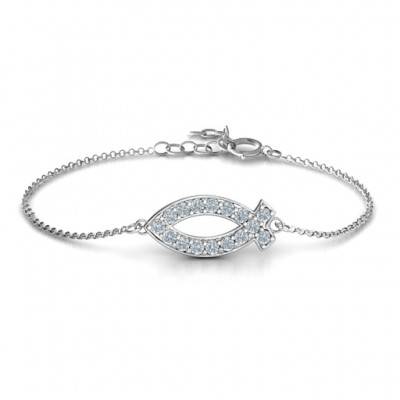 Personalised Classic Fish Bracelet - Crafted By Birthstone Design™