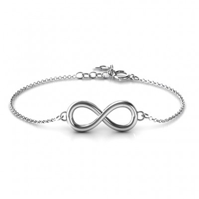 Personalised Classic Infinity Bracelet - Crafted By Birthstone Design™