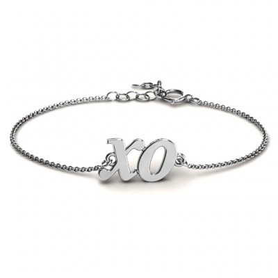 Personalised Classic Kiss and Hug Bracelet - Crafted By Birthstone Design™