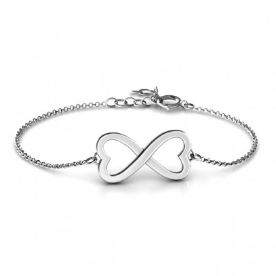 Personalised Double Heart Infinity Bracelet - Crafted By Birthstone Design™