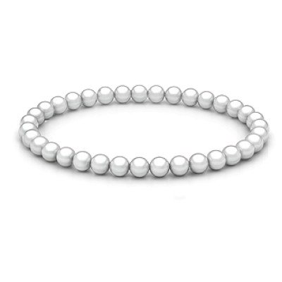 Personalised Freshwater Pearl Stretch Bracelet - Crafted By Birthstone Design™