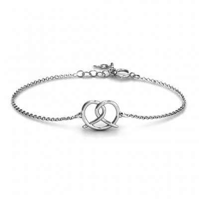 Personalised Love Knot Bracelet - Crafted By Birthstone Design™