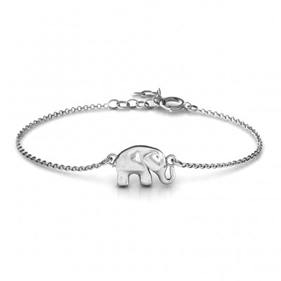 Personalised Lucky Elephant Bracelet - Crafted By Birthstone Design™