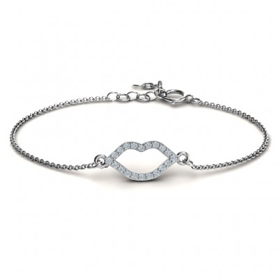 Personalised Lustrous Lips Bracelet - Crafted By Birthstone Design™