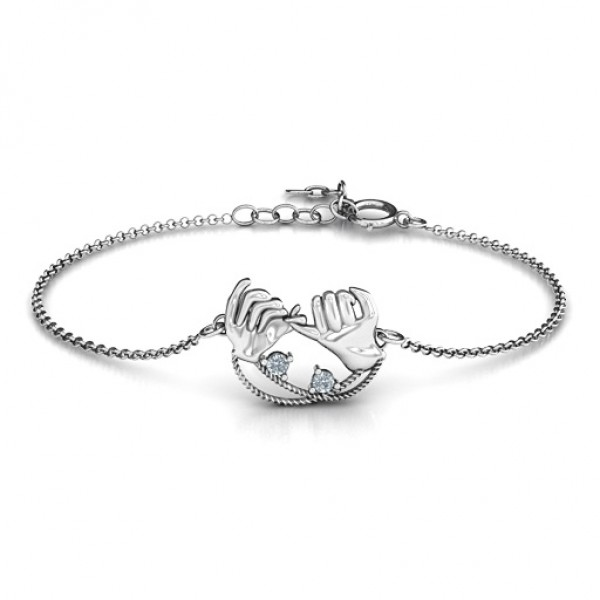 Personalised Pinky Swear Promise Bracelet - Crafted By Birthstone Design™