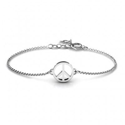 Personalised Shanti Peace Bracelet - Crafted By Birthstone Design™