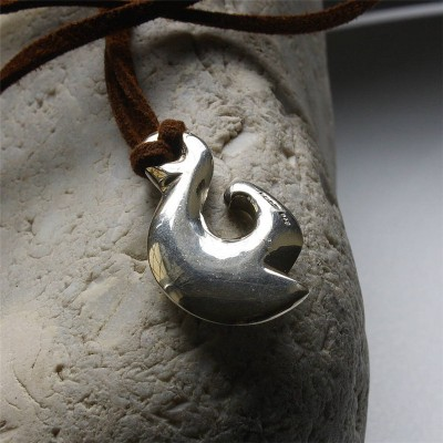 Maori Silver Fish Hook Necklace - Crafted By Birthstone Design™