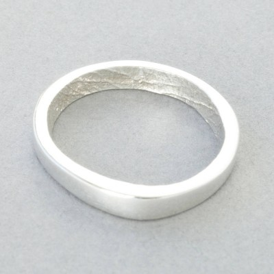 Sterling Silver Bespoke Fingerprint Ring - Crafted By Birthstone Design™