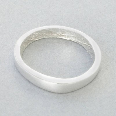 18ct White Gold Bespoke Fingerprint Ring - Crafted By Birthstone Design™