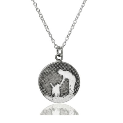 Personalised Walk With Me Dog Necklace - Crafted By Birthstone Design™