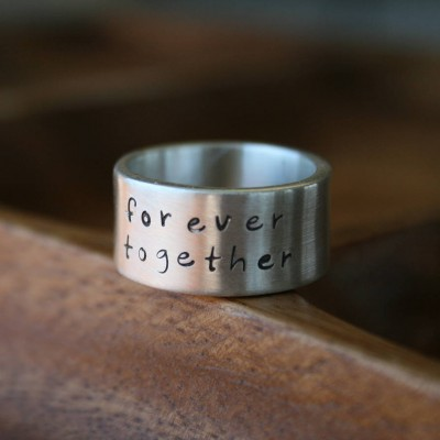Personalised Between Us Mens Silver Ring - Crafted By Birthstone Design™