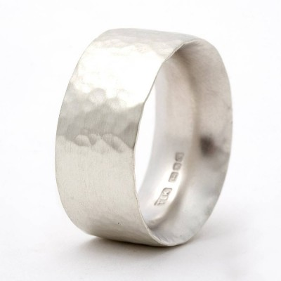 Chunky Hammered Ring - Crafted By Birthstone Design™