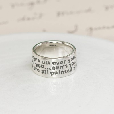 Personalised Sterling Silver Message Ring - Crafted By Birthstone Design™