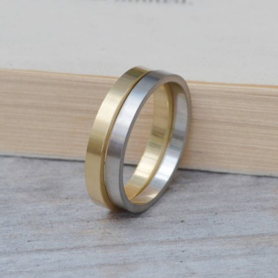 2mm Flat Wedding Band Wedding Ring Stackable - Crafted By Birthstone Design™