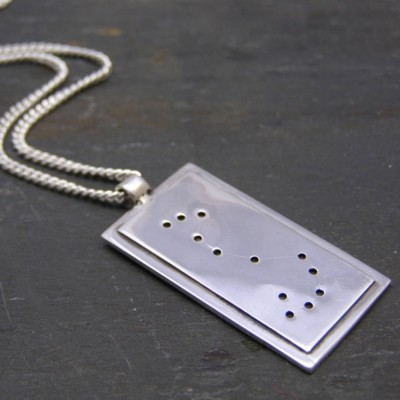 Sterling Silver Constellation Necklace - Crafted By Birthstone Design™