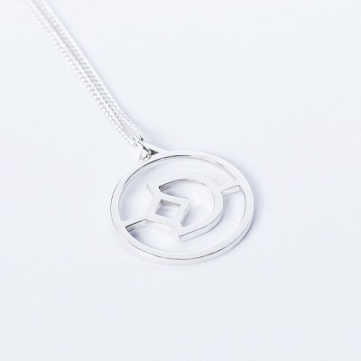 Personalised Crux Initial Necklace - Crafted By Birthstone Design™