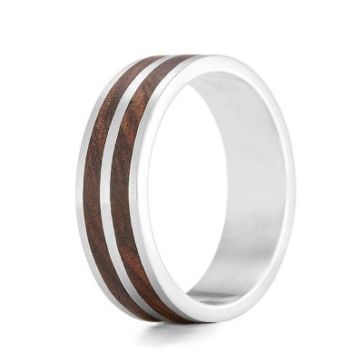 Wood Ring Dual - Crafted By Birthstone Design™