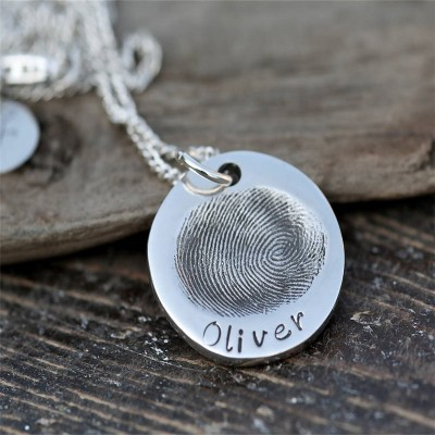 Fingerprint Coin Mens Chain - Crafted By Birthstone Design™