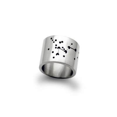 Personalised Wide Constellation Ring - Crafted By Birthstone Design™