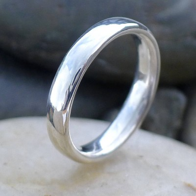Handmade Comfort Fit Silver Ring - Crafted By Birthstone Design™