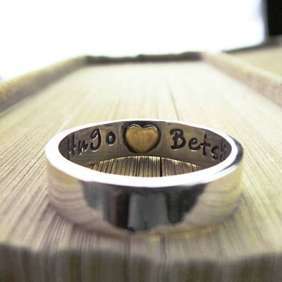 Heart Imprint Personalised Ring - Crafted By Birthstone Design™