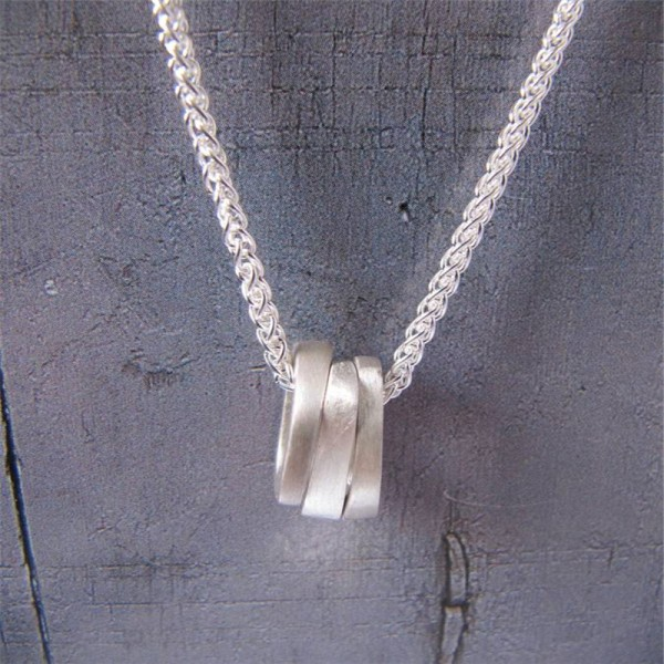 Infinity Three Ovals Stacks Necklace - Crafted By Birthstone Design™