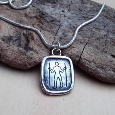 Long Man Silver Pendant - Crafted By Birthstone Design™