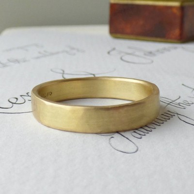 Loki Mens Fairtrade 18ct Gold Wedding Ring - Crafted By Birthstone Design™