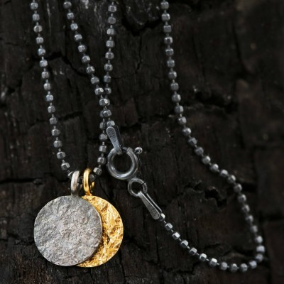 Night And Day Mixed Metal Mens Necklace - Crafted By Birthstone Design™