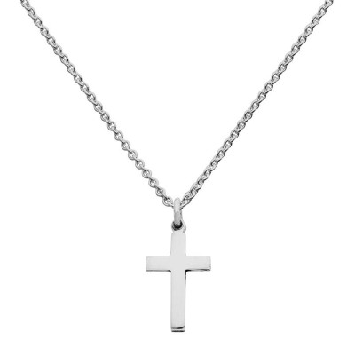 Mini Silver Cross Charm Necklace - Crafted By Birthstone Design™
