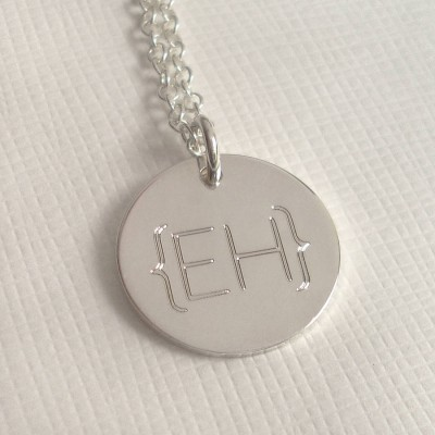 Modern Monogram Parentheses Necklace - Crafted By Birthstone Design™