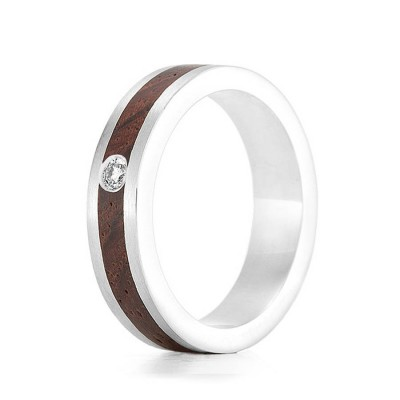 Wood Ring Native Diamond - Crafted By Birthstone Design™