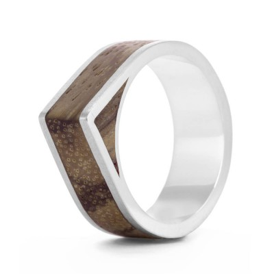 Wood Ring Native Edge - Crafted By Birthstone Design™