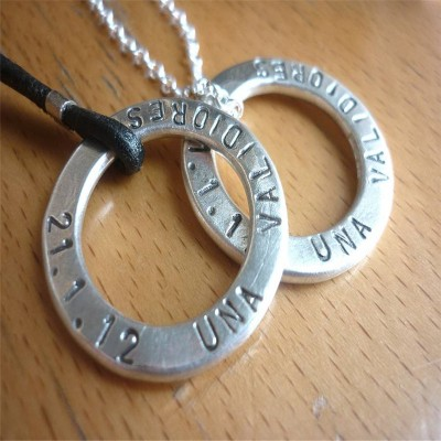 Two Personalised Wedding Necklaces - Crafted By Birthstone Design™