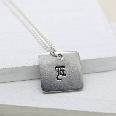 Personalised Old English Style Font Necklace - Crafted By Birthstone Design™