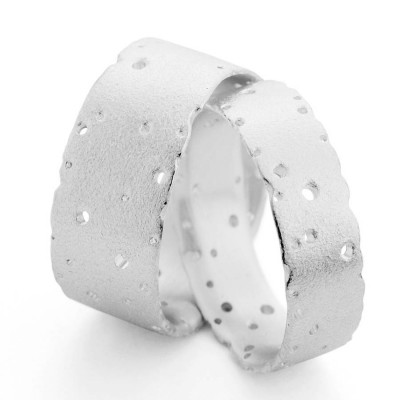 Patterned Silver Band - Crafted By Birthstone Design™
