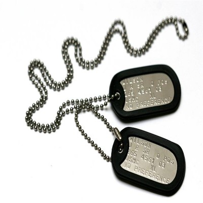 Personalised American Army Dog Tag Necklace - Crafted By Birthstone Design™