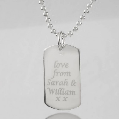 Personalised Coordinates Dog Tag Necklace - Crafted By Birthstone Design™