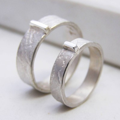 Personalised Contemporary His And Hers Rings - Crafted By Birthstone Design™