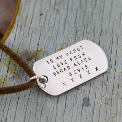 Personalised Dog Tag Necklace - Crafted By Birthstone Design™