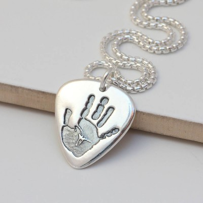 Mens Personalised Hand Or Footprint Necklace - Crafted By Birthstone Design™