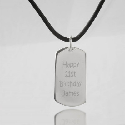 Personalised Message Dog Tag Necklace - Crafted By Birthstone Design™