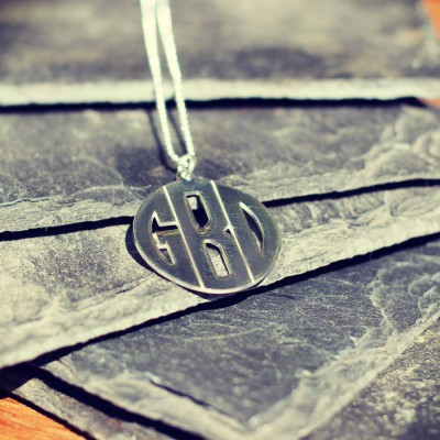 Personalised Mens Monogram Necklace - Crafted By Birthstone Design™